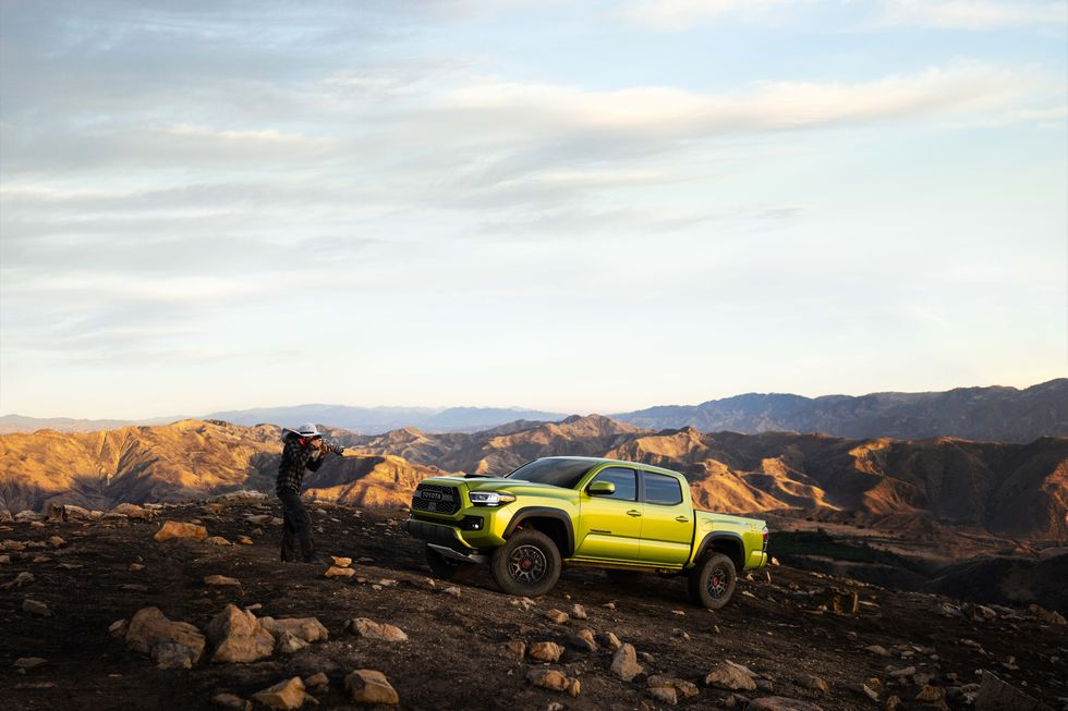 2022 Toyota Tacoma TRD Pro in Electric Lime