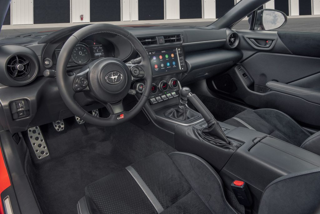 The interior of the GR 86 is all-black, and an improvement on the old one
