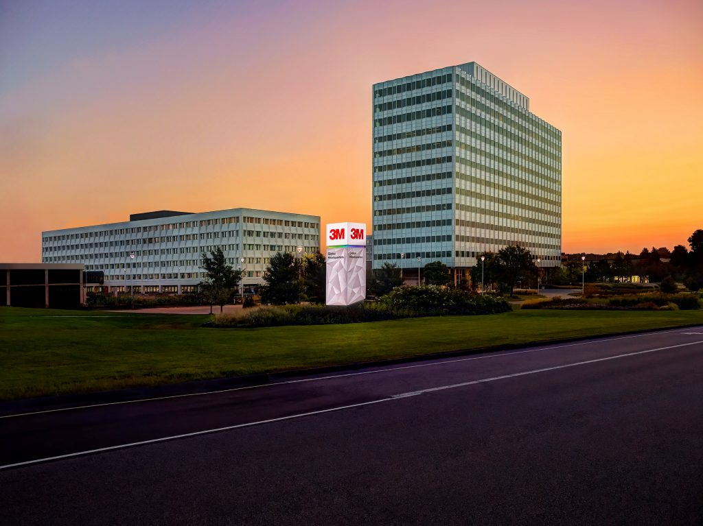 3M headquarters at sunset