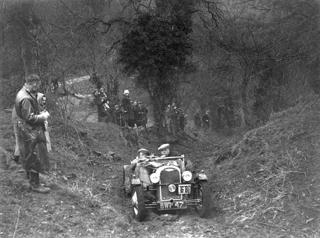 A 1937 Morgan 4/4 at the 1938 Petersfield Trial