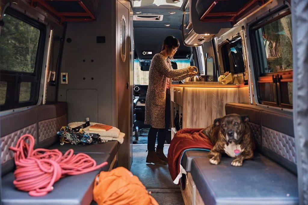 Airstream camper van interior