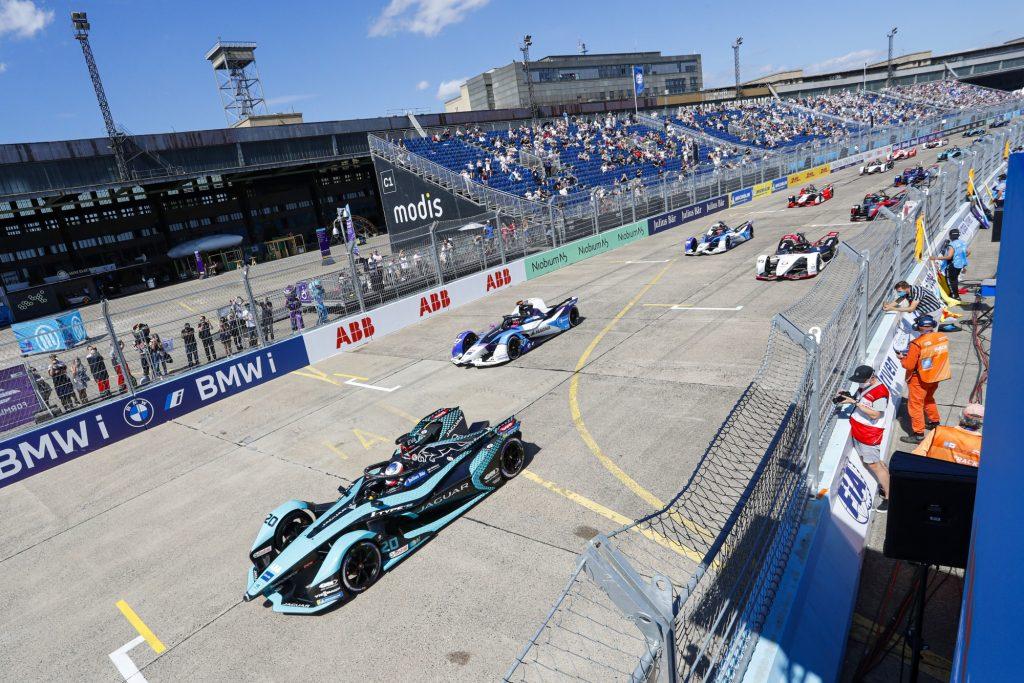 BMW competes in Formula E at the 2021 Berlin E-Prix