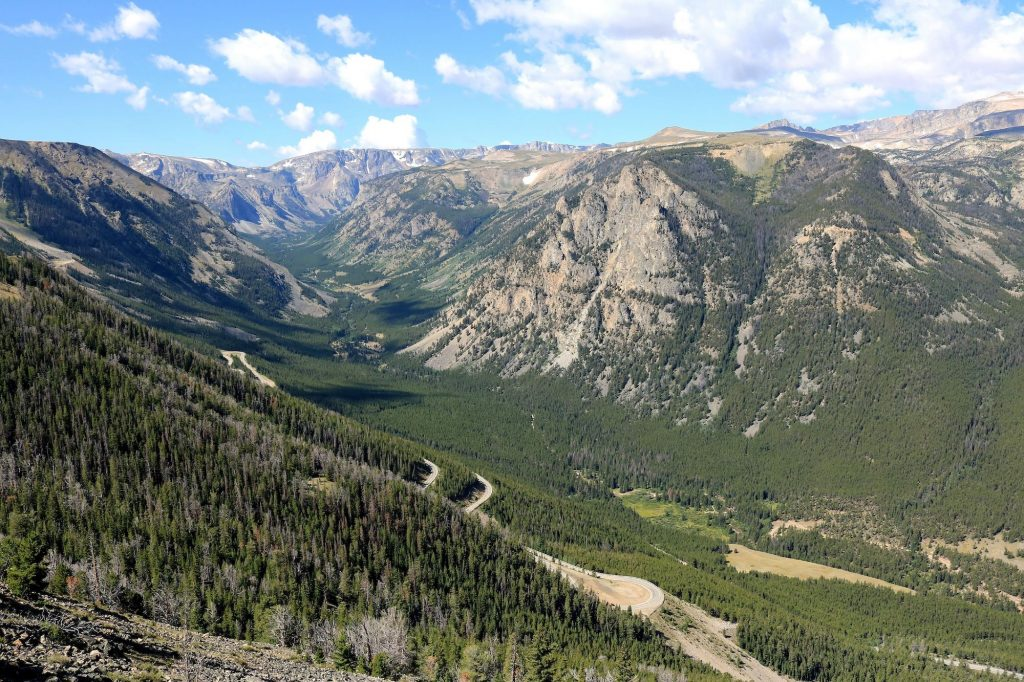 Beartooth Highway through the Beartooth Mountains of Montana is a scenic yet dangerous motorcycle ride