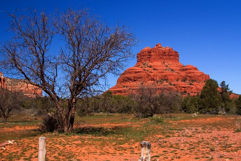 Pictured here is Bell Rock in Sedona, Arizona, inside the Mogollon Rim, perfect for boondocking