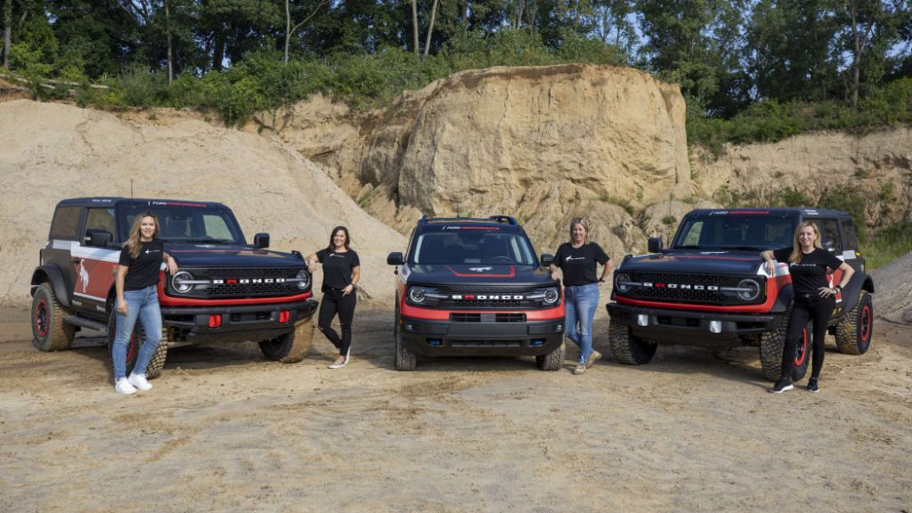 2021 Ford Bronco models for the Rebelle Rally