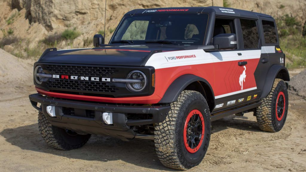 The 2021 Ford Bronco in the Rebelle Rally