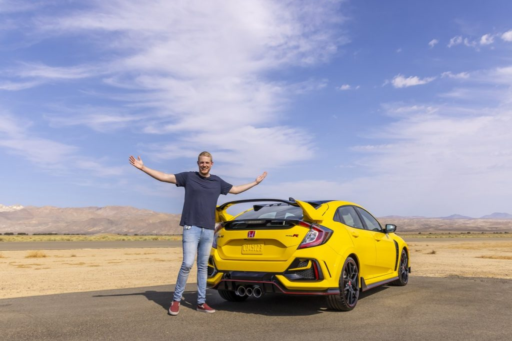 Zander and his new 2021 Honda Civic Type R Limited Edition