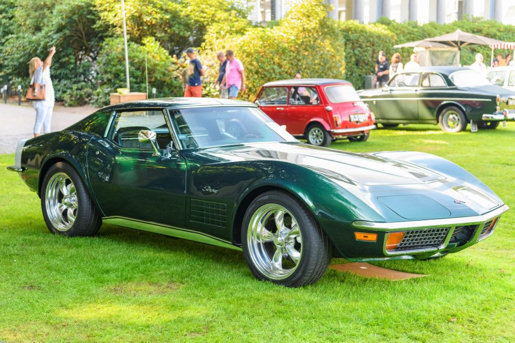 A Chevrolet Corvette Stingray model on display at the 2019 Concours d'Elegance