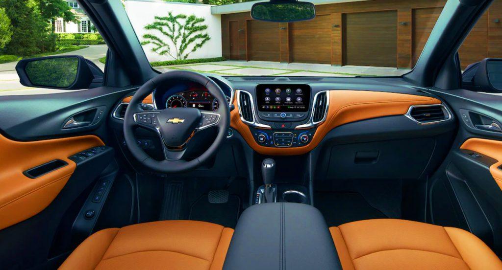 The 2021 Chevrolet Equinox interior.