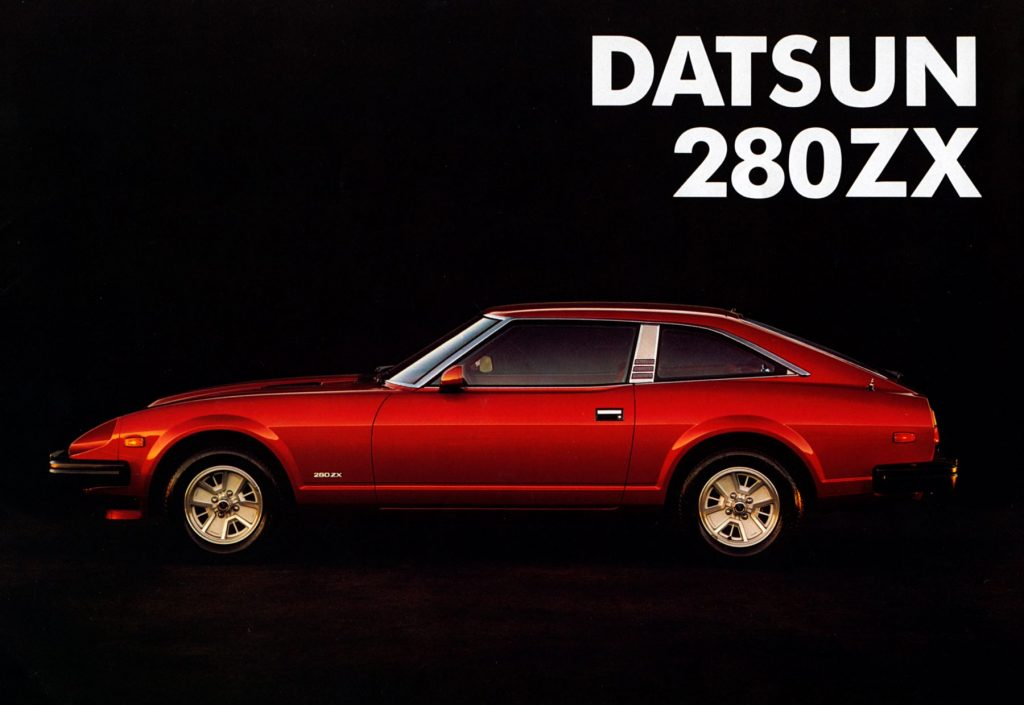 A 1981 Datsun 280ZX profile from a sales brochure