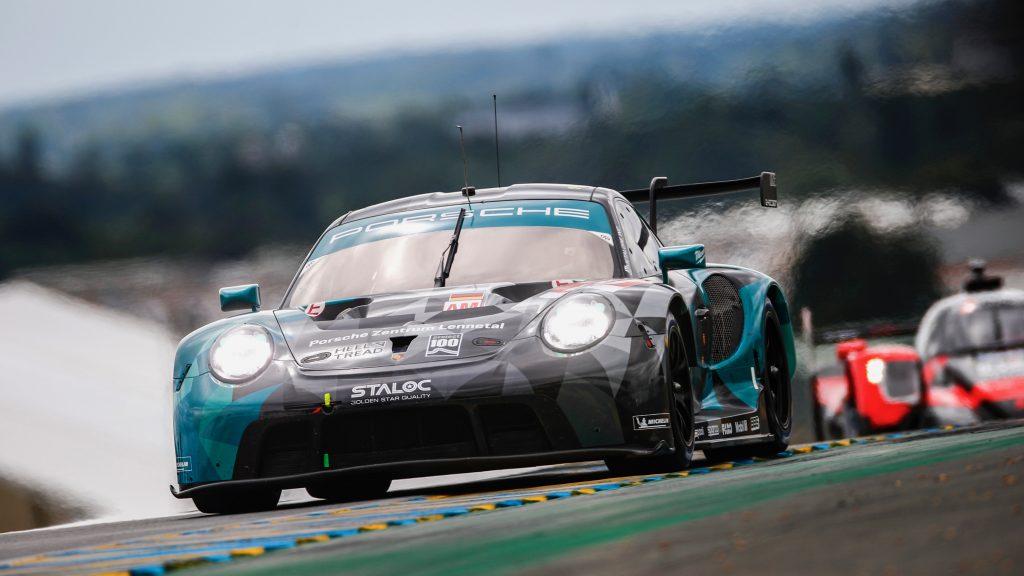 Dempsey-Proton Racing #88 Porsche 911 RSR driven by Julien Andlauer, Dominique Bastien, Lance David Arnold at Le Mans 2021