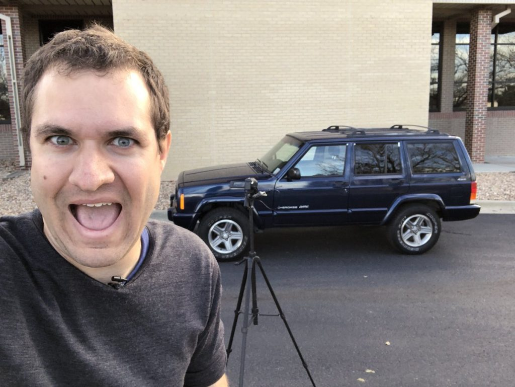 Doug DeMuro Shooting A Car Review for his Youtube Channel