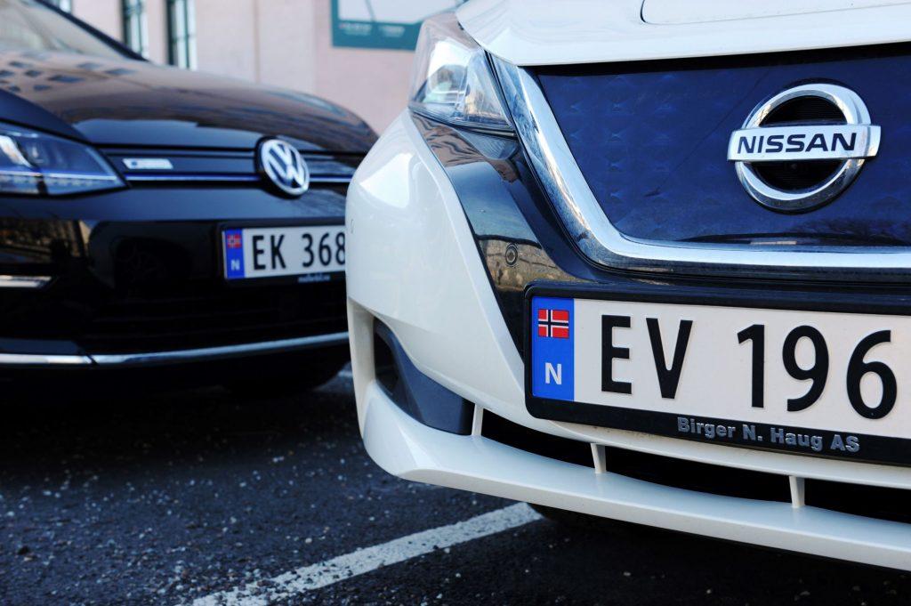 Volkswagen and Nissan EV (electric car) models in Norway