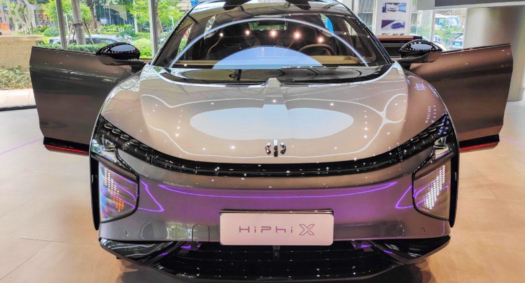 A HiPhi X electric car.