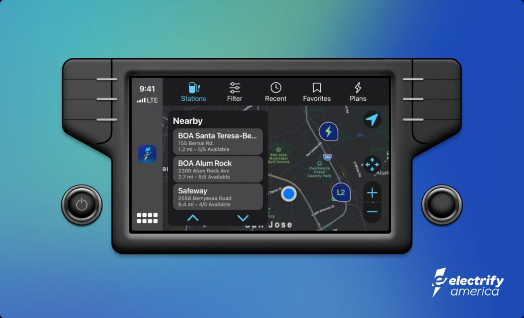 Electrify America For Apple CarPlay Android Auto
