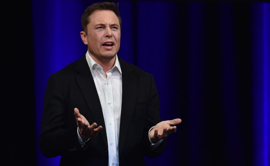 Elon Musk speaks at the 68th International Astronautical Congress in Adelaide, Australia, in September 2017