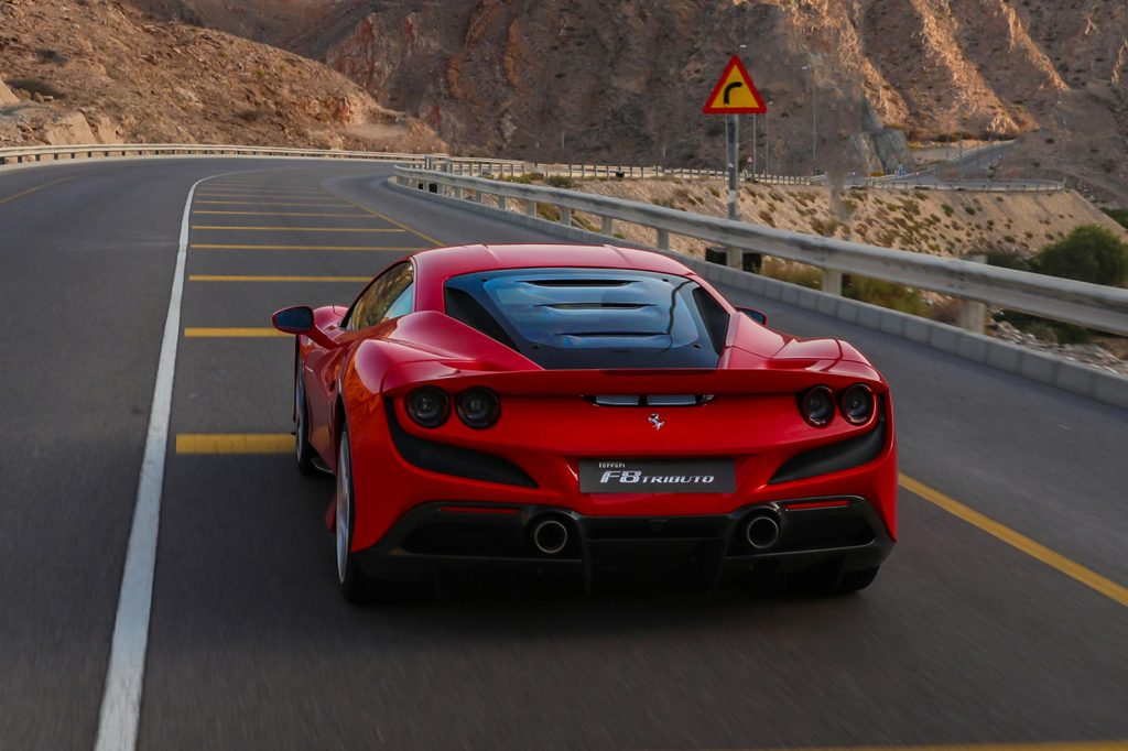 Ferrari F8 Tributo rear shot