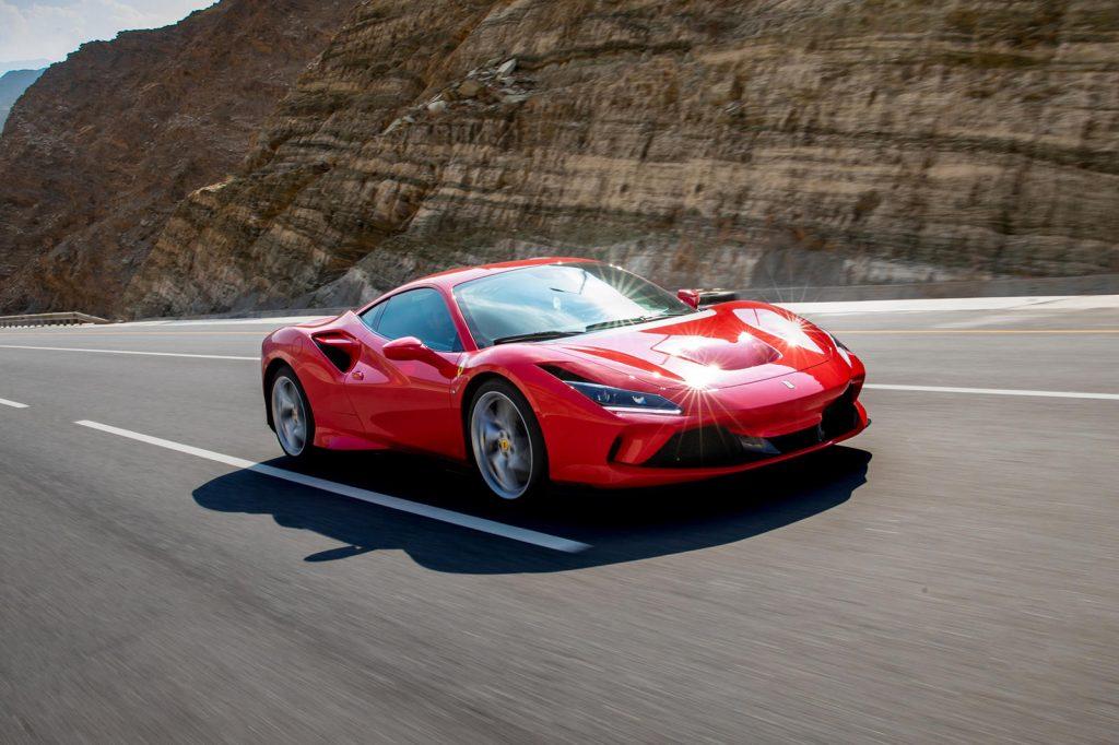 Ferrari F8 Tributo on winding road