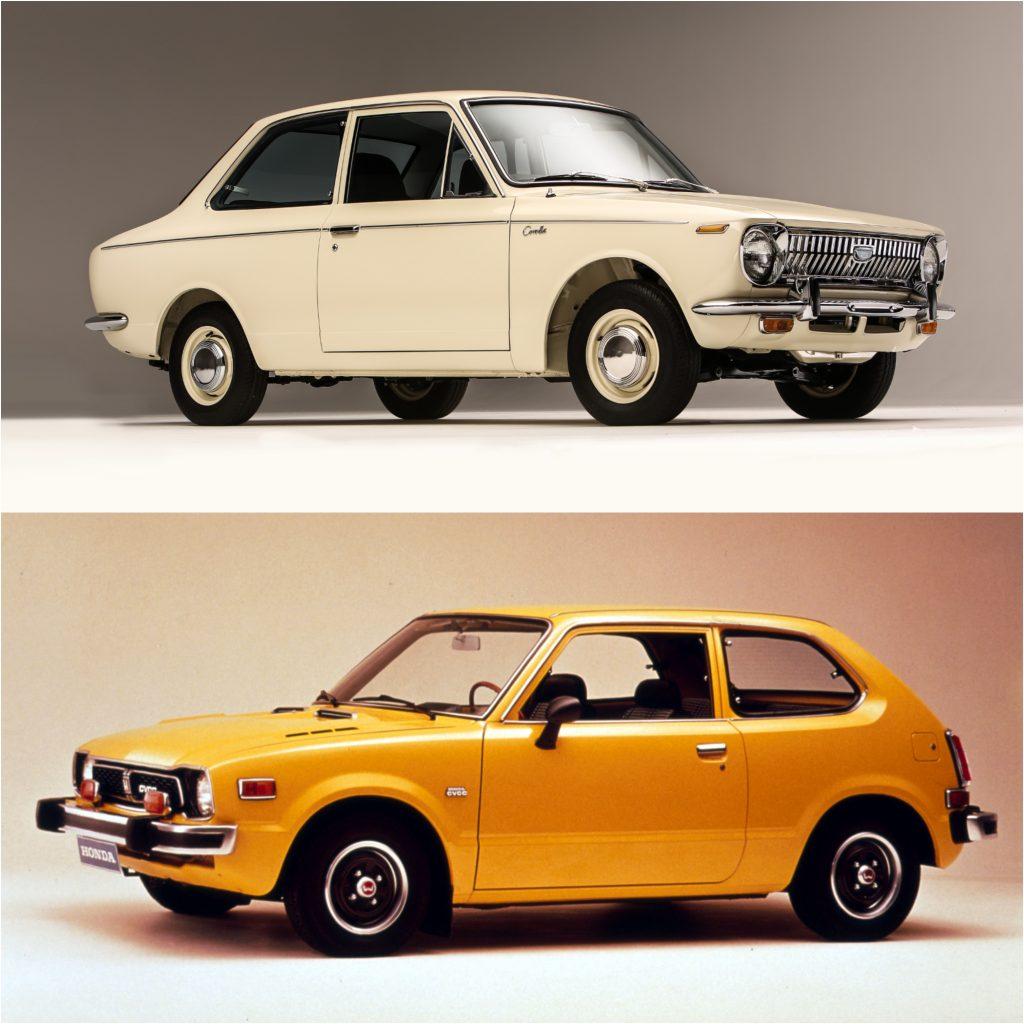 First Generation Toyota Corolla and Honda Civic