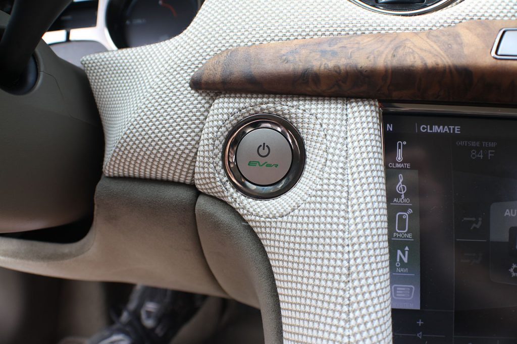 Push-button ignition in Fisker Karma