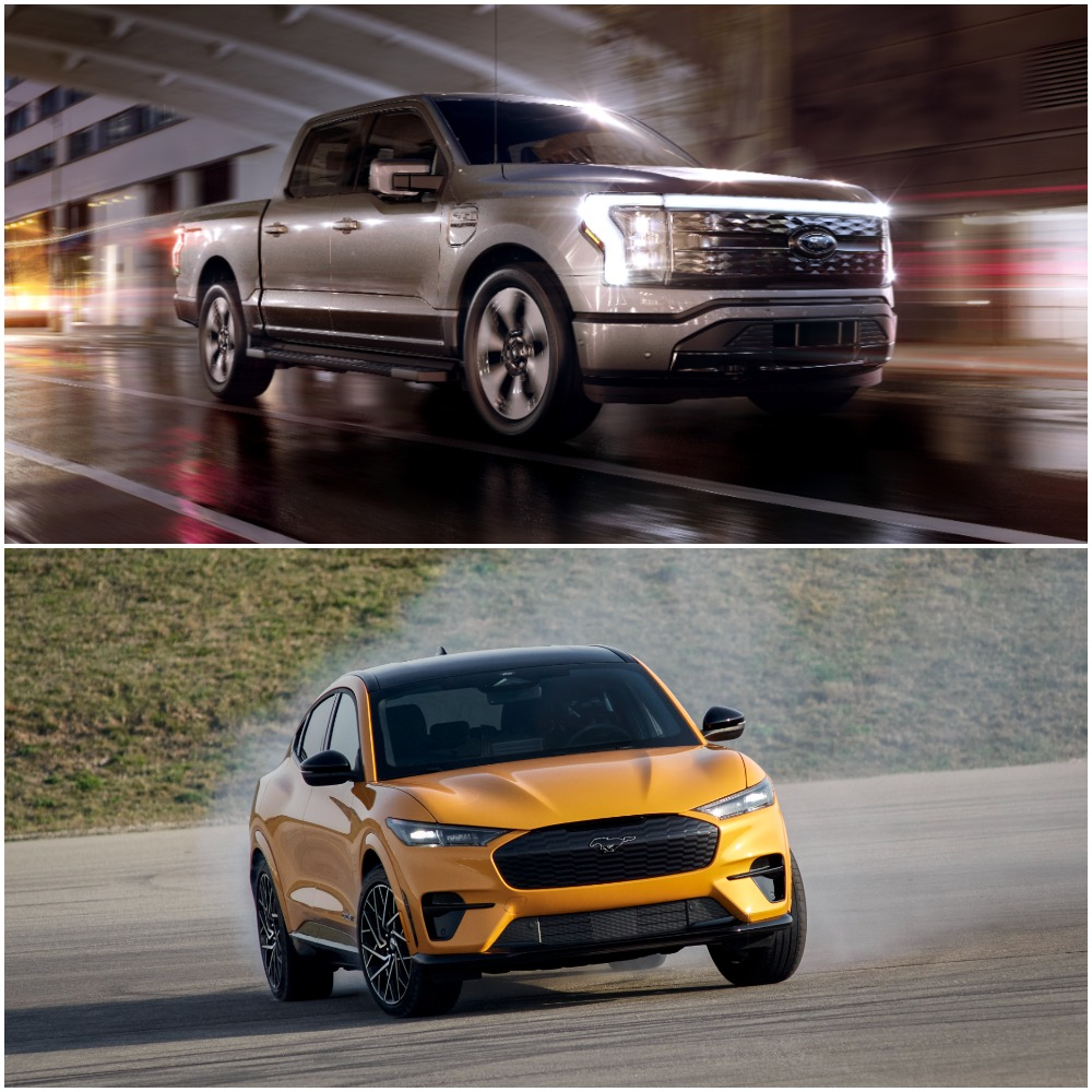 Ford F-150 and Mustang Mach-E Electric Cars