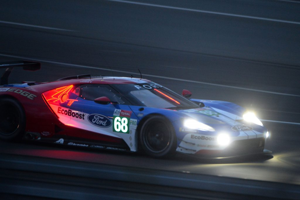 French driver Sebastien Bourdais steers his Ford GT during first qualifying practice session at Le Mans 2019