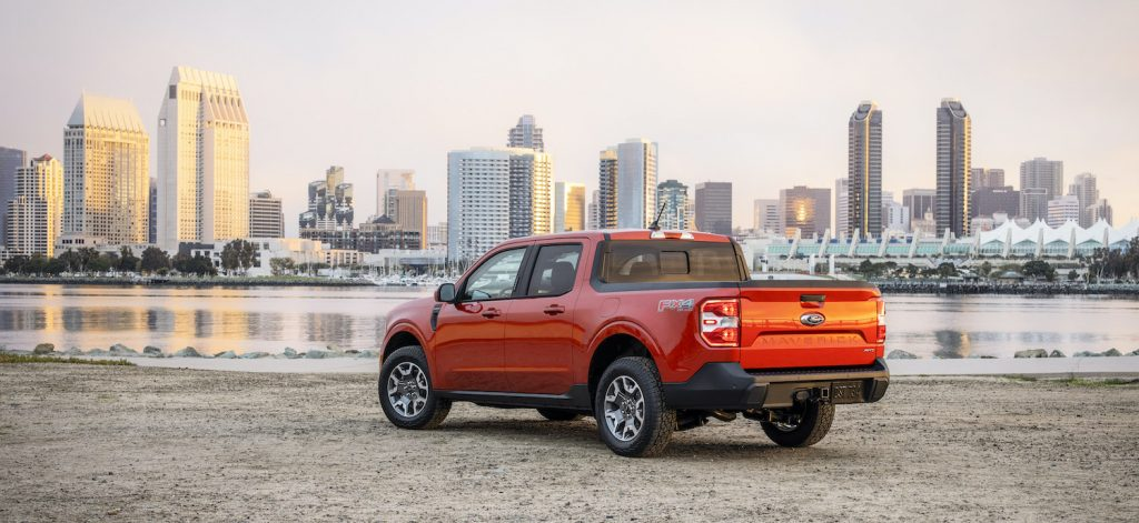 2022 Ford Maverick 2L-EcoBoost AWD Lariat. Preproduction vehicle with optional equipment shown. Available fall 2021. This is one of the true compact trucks coming to the market.