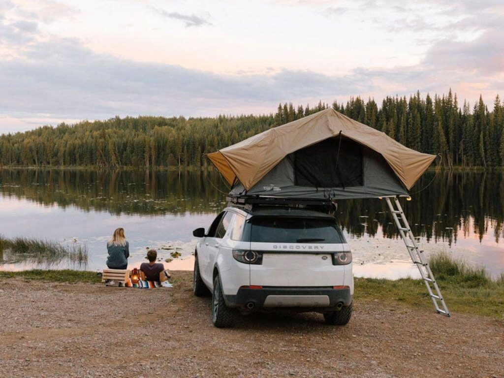 Publicity shot of the Front Runner Rooftop Tent   OK4WD. One of the 5 Best Rooftop Tents For Overlanding -- According to Popular Mechanics