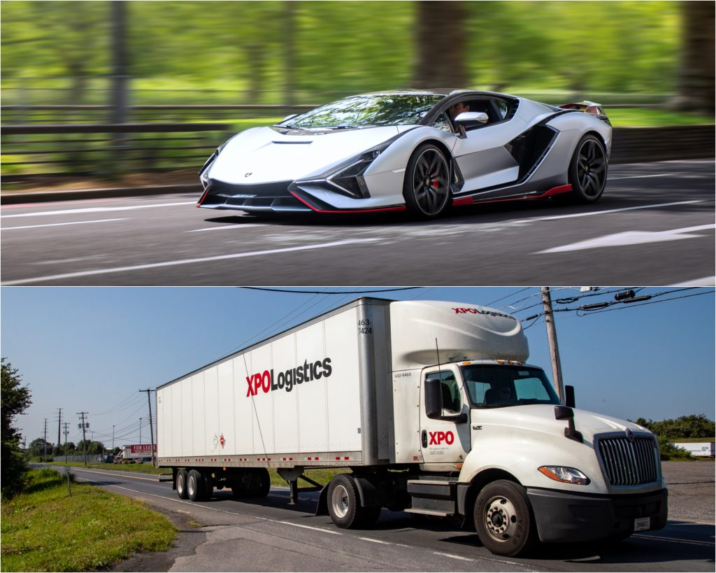 Gasoline Powered Supercar and Diesel Powered Truck