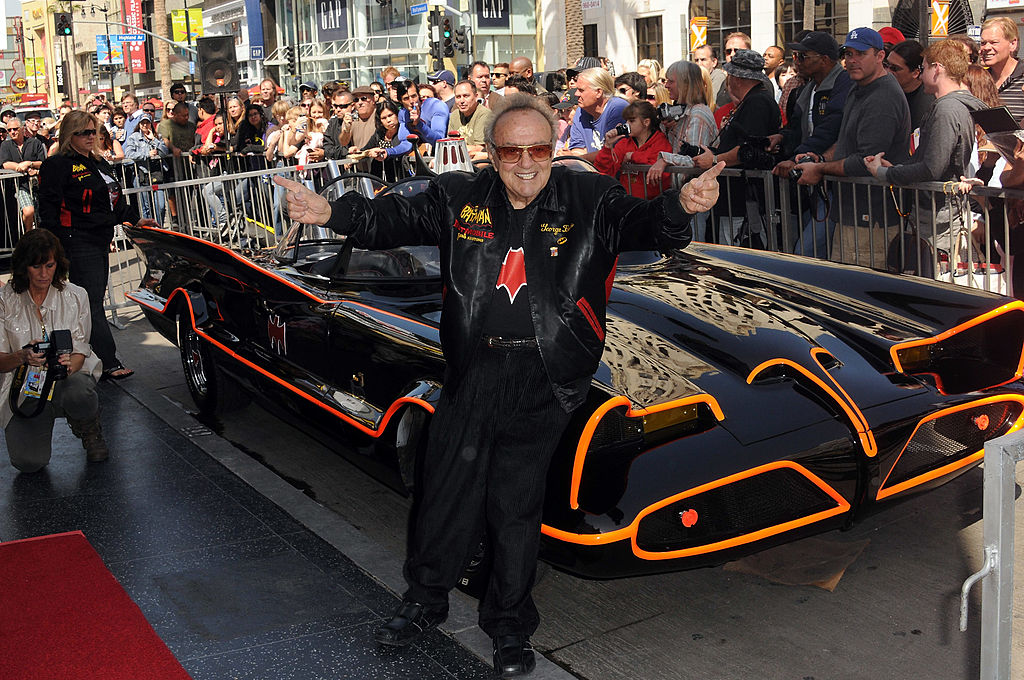 Barris with the Batmobile