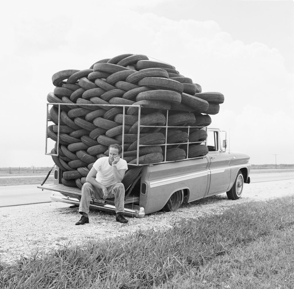 A man experiences irony as his car, laden with used tires, has a flat tire, Houston, Texas, March 1966. (Photo by Michael Ochs Archives/Getty Images). Use our tire load index chart explained to find your max tire weight.