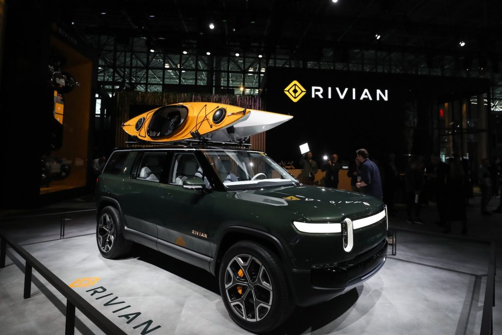 NEW YORK, USA - APRIL 17: Rivian RT1 is on display during the New York International Auto Show on April 17, 2019 in New York, United States.  (Photo by Atilgan Ozdil/Anadolu Agency/Getty Images)   Rivian IPO: Backed By Amazon And Ford, Startup Files For $80 Billion