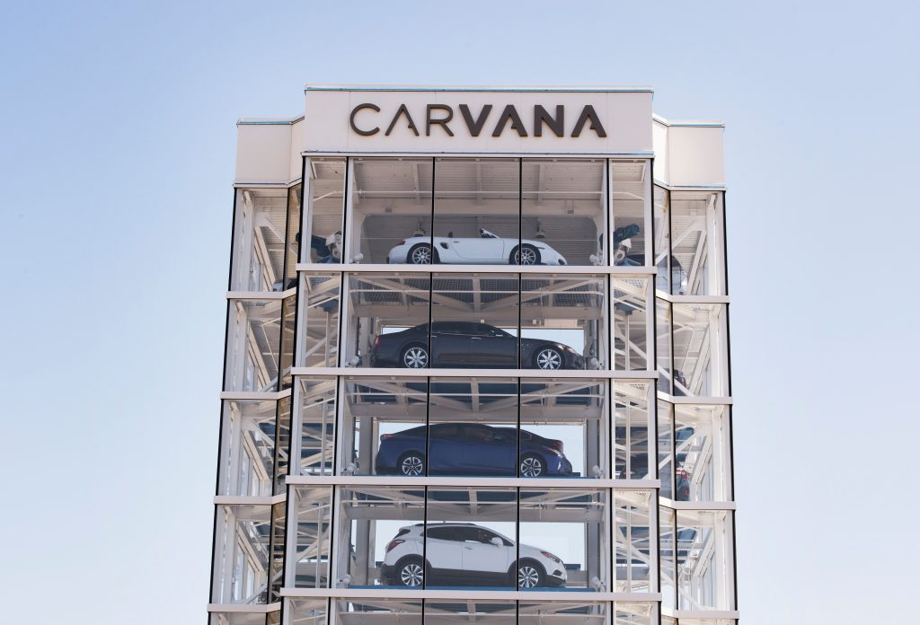 A Carvana vending tower