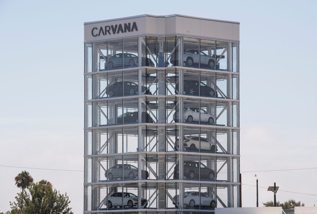 A Civic Type R can be seen in one of the brand's vending towers in California