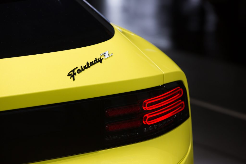 The 300ZX-inspired rear lights on the new Z