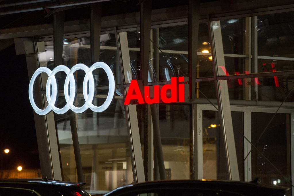 An Audi dealer in Poland