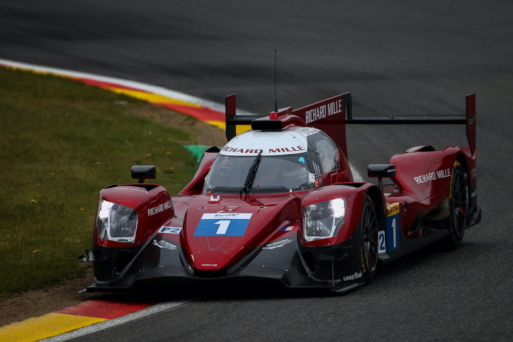 Who is Sophia Floersch? SPA, BELGIUM - 29 APRIL: The #01 Richard Mille Racing Team Oreca 07 - Gibson of Tatiana Calderon, Sophia Floersch, and Beitske Visser in action during practice for the opening round of the World Endurance Championship on April 29, 2021 at Spa-Francorchamps, Belgium. (Photo by James Moy Photography/Getty Images)