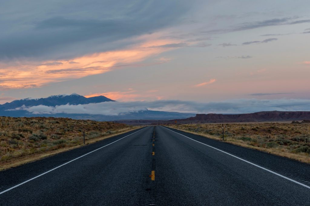 USA, Southwest,Colorado Plateau, Utah, Hanksville, Highway 24. Like roads Jack Kerouac and Ernest Hemmingway enjoyed their road trips (Photo by: Dukas/Universal Images Group via Getty Images)