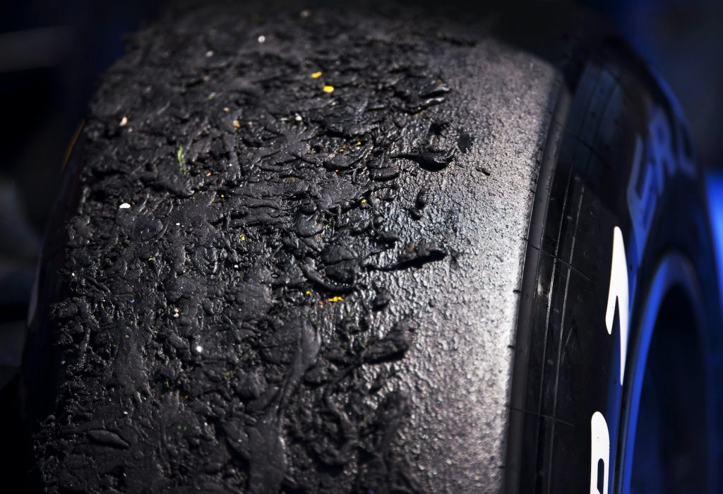 Always check our tire speed rating chart. A Formula One car's right front Pirelli P Zero tyre covered in rubber debris, known as pick-up, in post race Parc Fermé at the 2011 European Grand Prix, Valencia Street Circuit, Valencia, Spain, on the 26th June 2011. (Photo by Darren Heath/Getty Images)