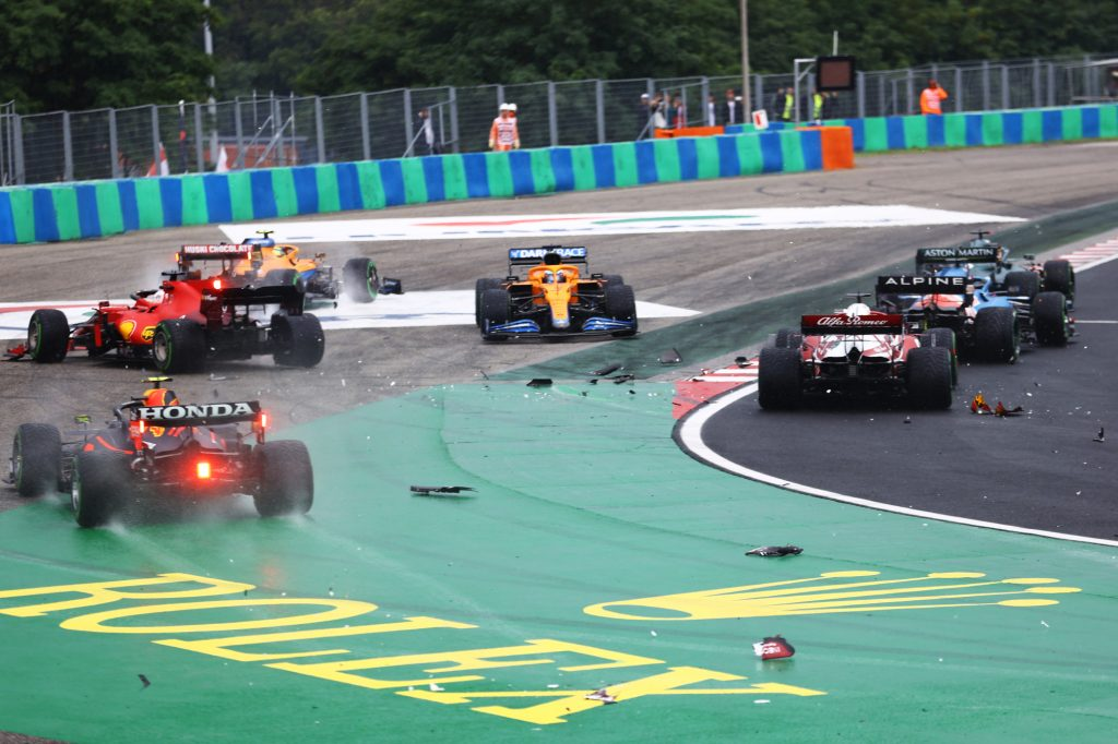 A crash at the most recent Formula 1 race