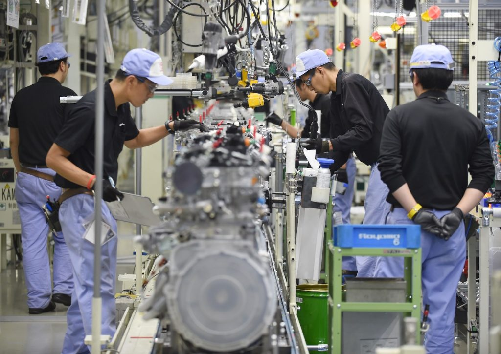 Employees of Toyota Motor's subsidiary Toyota Motor Kyushu assemble the new 2-litre gasoline turbo engine '8AR-FTS' at the Kanda Plant in Kanda, Fukuoka Prefecture, on August 7, 2014. Toyota said on August 5 its net profit in the three months through June came in at a record USD 5.7 billion, with the rise largely thanks to cost-cutting and a weak yen.  AFP PHOTO / Toru YAMANAKA        (Photo credit should read TORU YAMANAKA/AFP via Getty Images). Learn to decode your toyota engine name with our Toyota engine family chart and engine feature table.