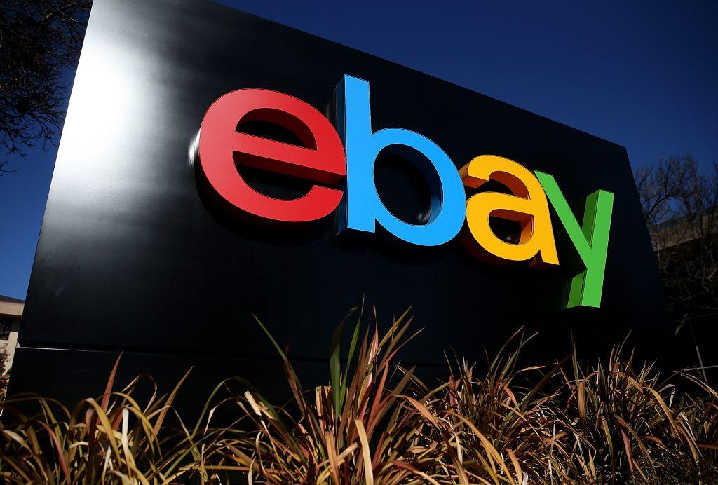 The ebay logo outside their headquarters