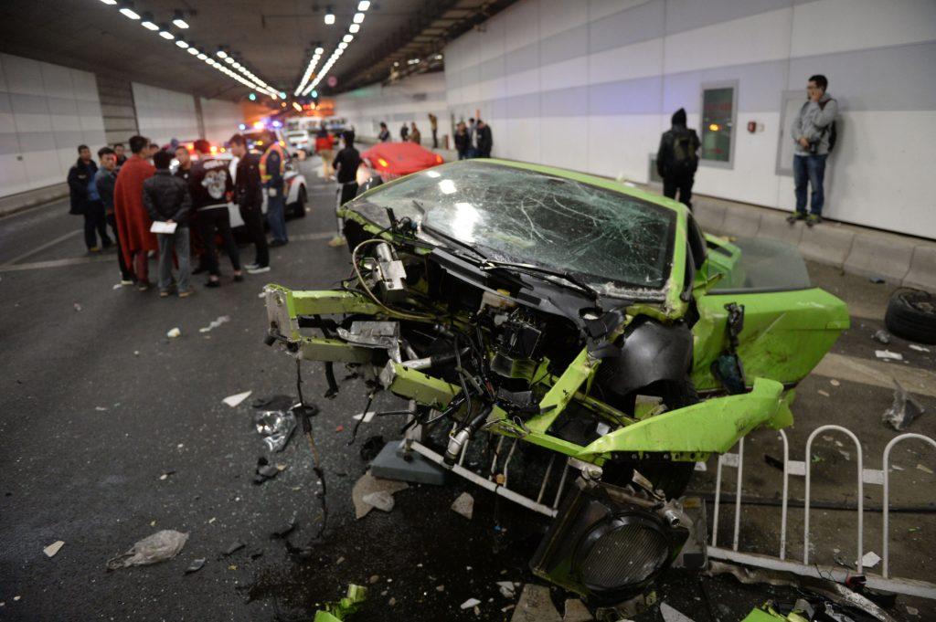 Lamborghini Ferrari Crash: Fast and Furious Illegal Supercar Race