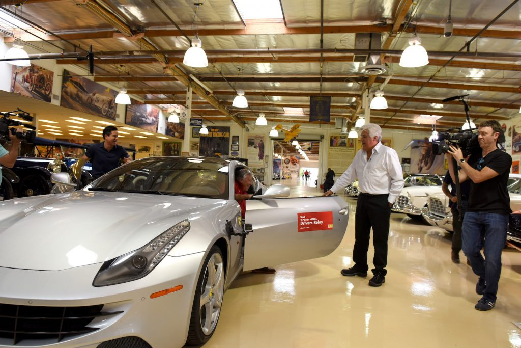 Jay Leno welcomes the driver of a Ferrari, during a cross-country relay, into his garage, with a smile. So why doesn't Jay Leno own a single Ferrari?