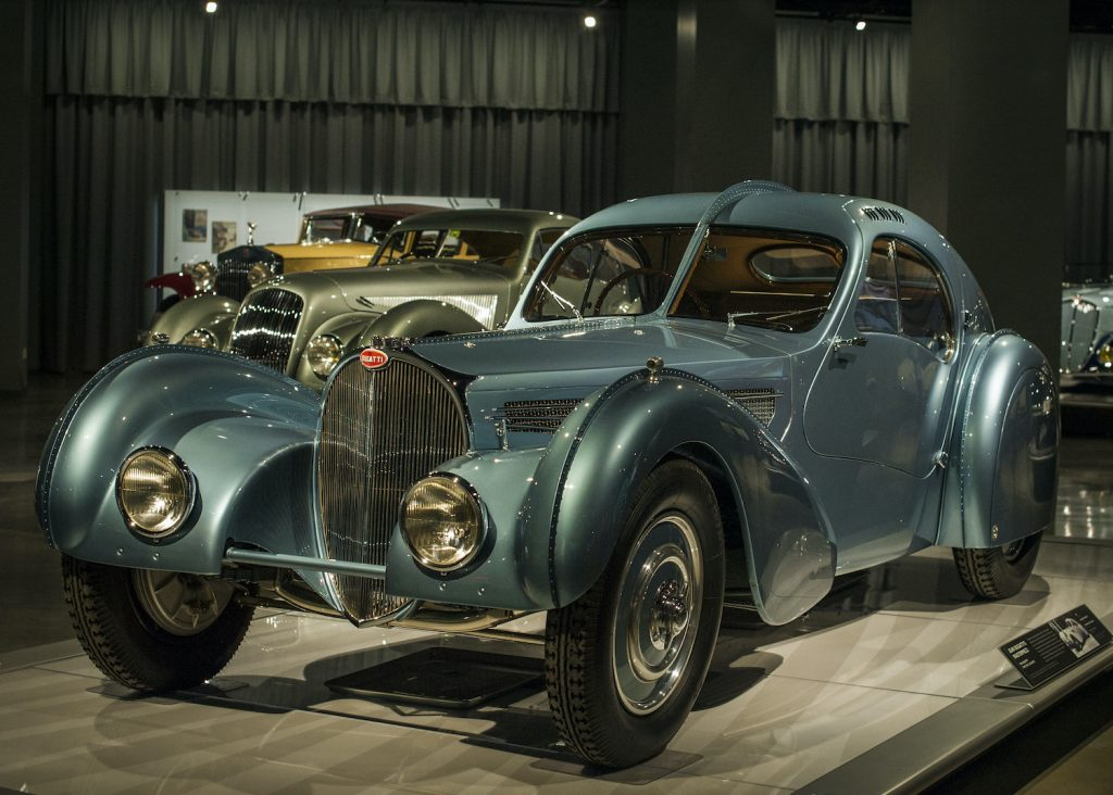 Super rare and valuable 1936 Bugatti Atlantic Type 57S stands out at the Petersen Automotive Museum in Los Angeles,California. (Photo by Markus Cuff/Corbis via Getty Images) A Bugatti so rare, Jay Leno can't buy one.