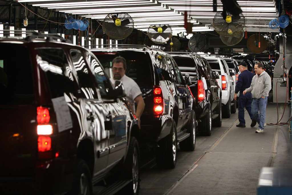 JANESVILLE, WI - FEBRUARY 13:  Workers at a General Motors Assembly plant make final adjustments to SUVs coming down the assembly line February 13, 2008 in Janesville, Wisconsin. General Motors Corp. yesterday reported a loss of $38.7 billion in 2007, one of the largest losses ever for an automotive company.  (Photo by Scott Olson/Getty Images)What Is The Best Selling Car Of All Time?