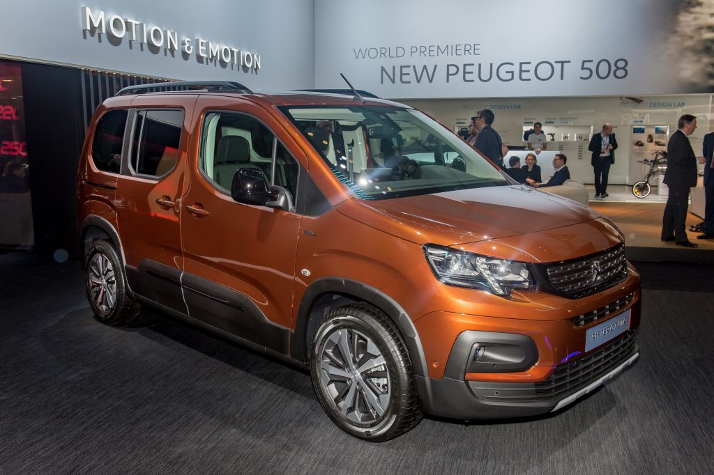 A new Rifter van on display at an auto show