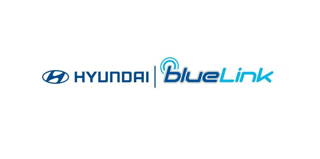 The Hyundai and Blue Link logos