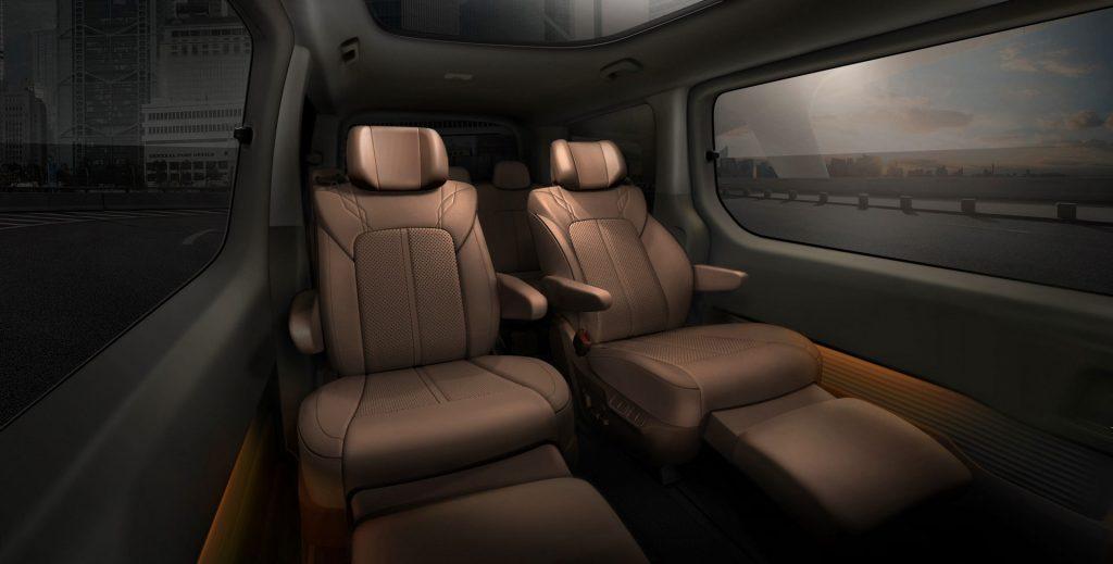 2022 Hyundai Staria minivan rear seating