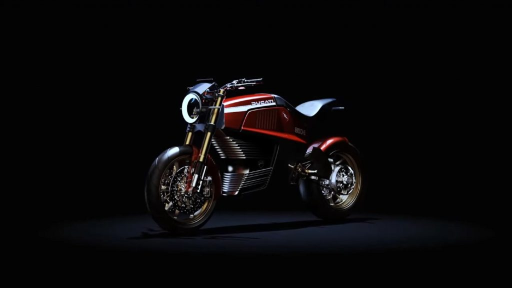 The red Italdesign Ducati 860-E Concept
